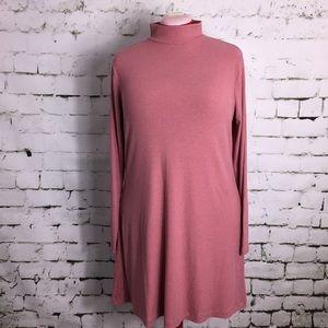 H&M essentials rose mock neck dress